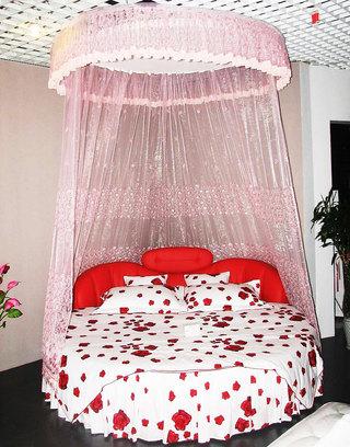 粉色圆床设计图
