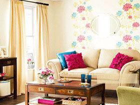 手绘沙发背景墙 19款创意墙面设计