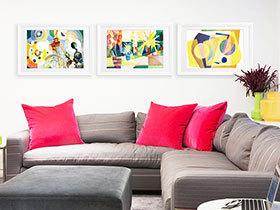 15款沙发抽象画 装点特色现代客厅