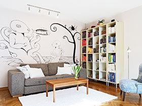 16张手绘沙发背景墙效果图 个性十足