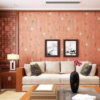 红色沙发背景墙效果图