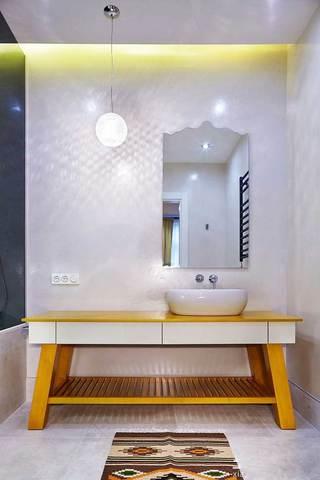 黄色洗手台效果图
