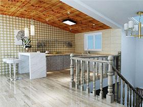 15张现代简约厨房吊顶效果图 简单大气