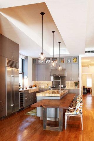 黄色厨房吊顶设计图