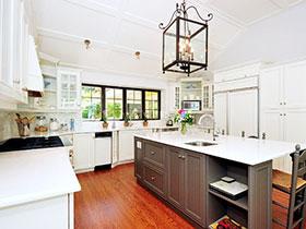14张美式厨房吊顶效果图 奢华大气