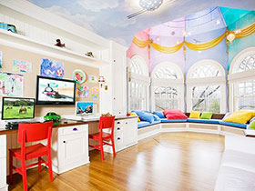 14张美式儿童房吊顶效果图 高贵典雅