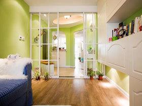 小清新田园三居室 超美的果绿色