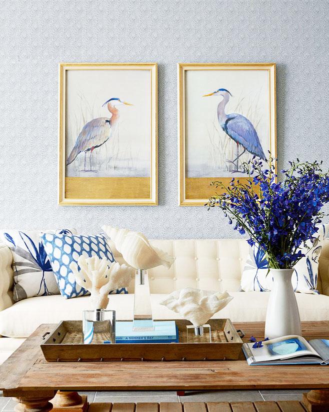 沙发背景墙装饰画效果图
