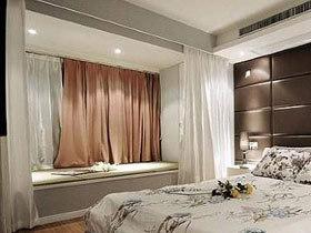 温和窗帘色彩 11款藕粉色飘窗图片