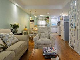 78平清新淡绿色宜家风公寓 工薪之家最佳选择