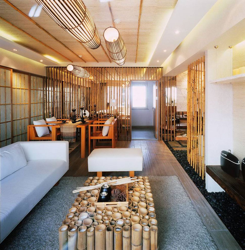 新中式风格二居室小清新70平米装修效果图