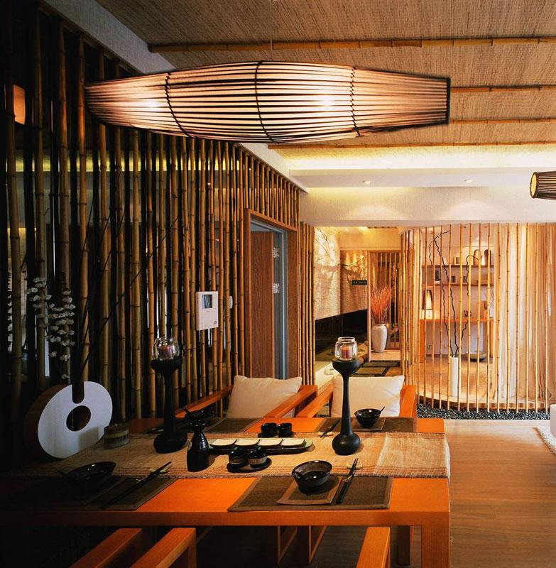新中式清新餐厅设计效果图