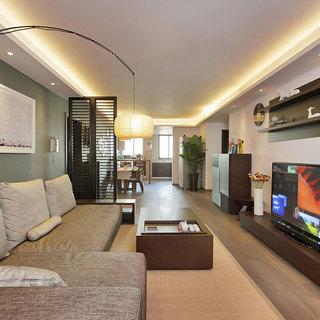 现代中式客厅设计效果图