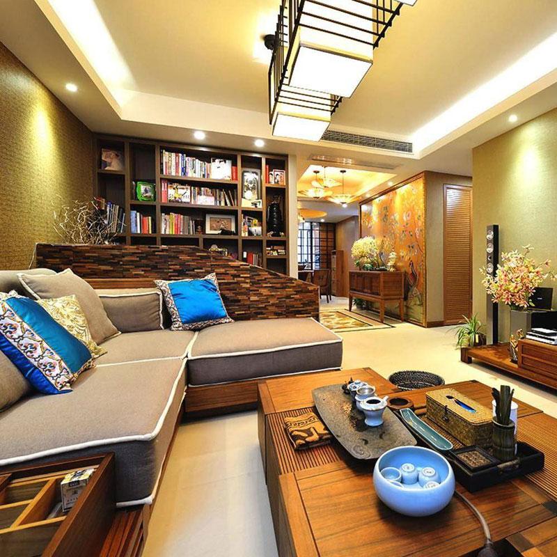 东南亚客厅设计效果图