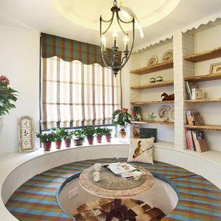 地中海风格四房110平米效果图