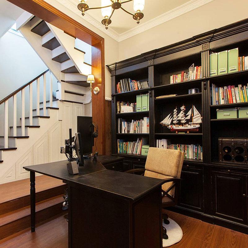 美式书房设计效果图