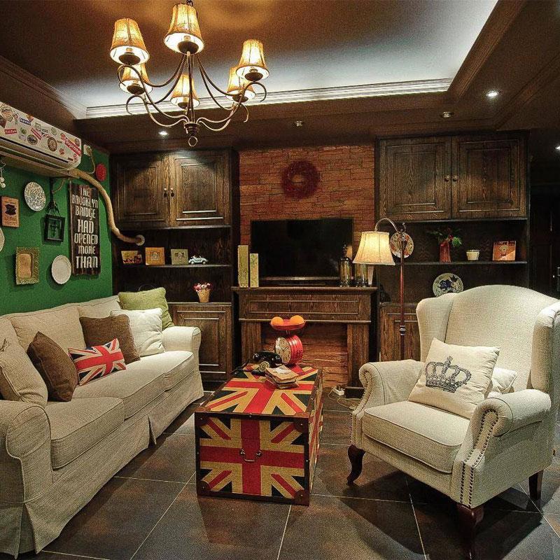 美式客厅设计效果图