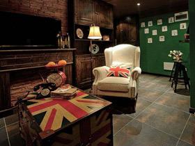 铬绿色乡村复古美式公寓装修 很有历史感的设计