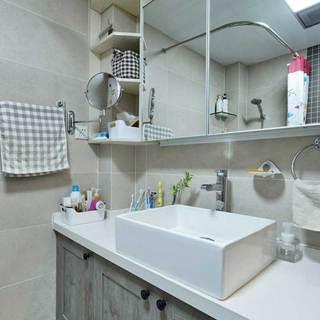 日式简洁洗手台设计图片