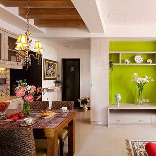 混搭风格二居室50平米效果图