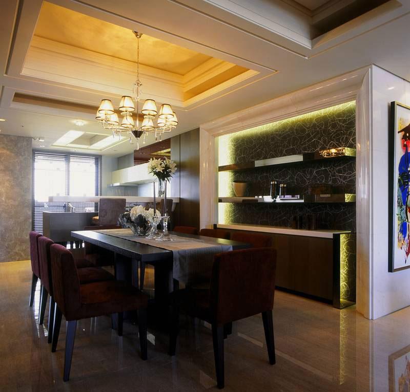 现代简约餐厅设计效果图