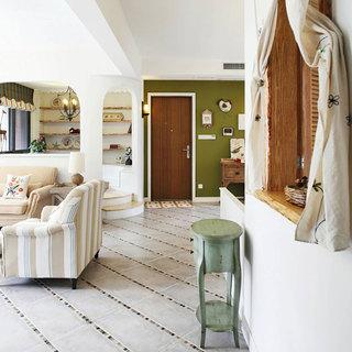 地中海风格三居室110平米设计图