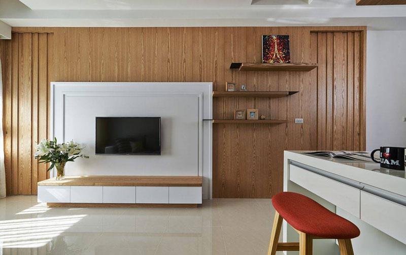 质感客厅电视背景墙装潢效果图