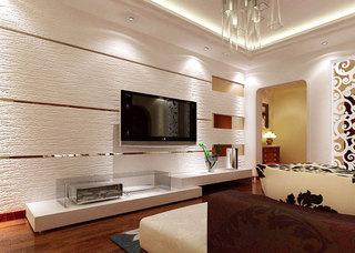 时尚硅藻泥电视墙