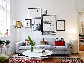 12个北欧客厅装饰画 黑白搭配造时尚