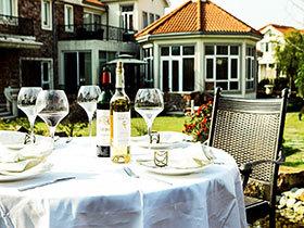 豪华餐桌设计 布置有格调的花园