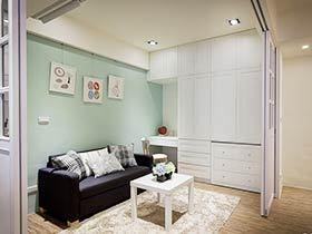 70平米现代简约家 变身大空间有妙招