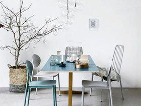 宜家清新风 13图秀餐厅彩色餐椅
