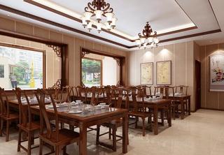 酒店中式餐厅效果图