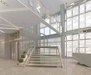 写字楼楼梯装修效果图欣赏