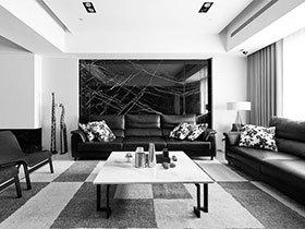 定义客厅新表情 11个极简黑白客厅效果图
