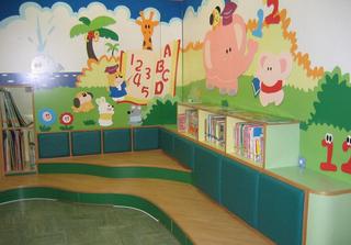 高档幼儿园墙面布置图片