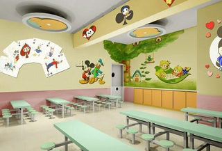 幼儿园餐厅布置图片