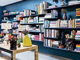 在家开个图书馆 12个书架墙设计图片
