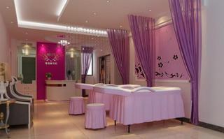 美容院室内背景墙设计图欣赏