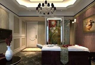 美容院吊灯装修设计案例图片
