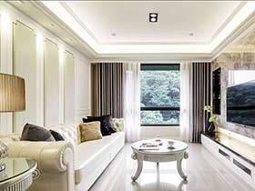 130平米歐式風格裝修 典雅兩室一廳