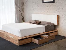 天生会收纳 13款实木收纳床设计
