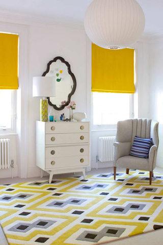 清新柠檬黄地毯效果图