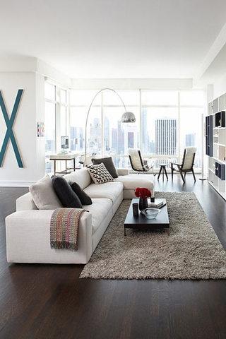 大气米色客厅沙发效果图