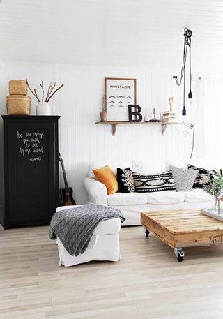 时尚米色客厅沙发效果图