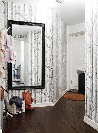 树干玄关壁纸背景墙