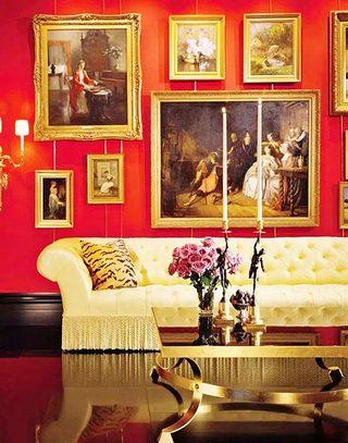 红色客厅背景墙设计