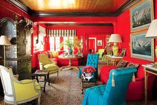 热情洋溢红色客厅背景墙