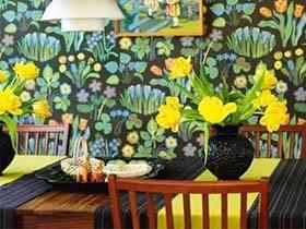 把春天留在家里 11张花样餐厅壁纸效果图