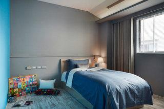 藏蓝色卧室装修设计